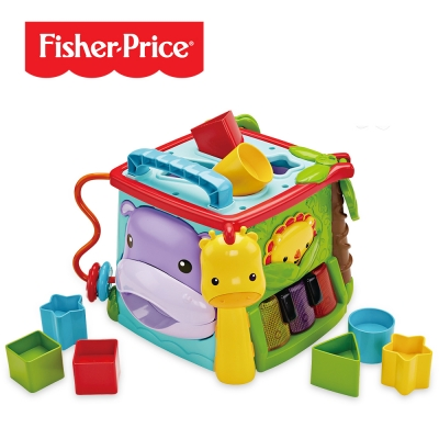 Fisher Price 費雪 可愛動物積木盒